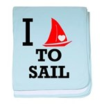 I Love to Sail baby blanket
