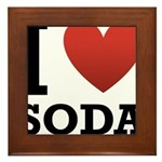 I Love Soda Framed Tile