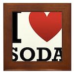 I Love Soda Framed Tile