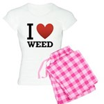 I Love Weed Women's Light Pajamas