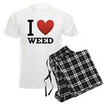 I Love Weed Men's Light Pajamas