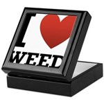 I Love Weed Keepsake Box