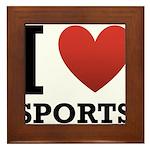 I Love Sports Framed Tile
