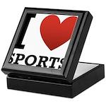 I Love Sports Keepsake Box