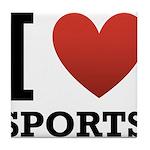 I Love Sports Tile Coaster