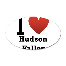 I Love Hudson Valley 38.5 x 24.5 Oval Wall Peel
