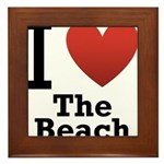 I Love the Beach Framed Tile
