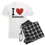 I Love Animals Men's Light Pajamas