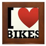 I Love Bikes Framed Tile