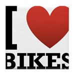 I Love Bikes Tile Coaster