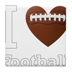 I Love Football Tile Coaster