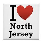 I <3 North Jersey Tile Coaster
