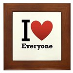 I Love Everyone Framed Tile