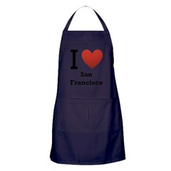 I Love San Francisco Apron (dark)
