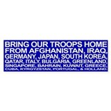 Bring ALL the Troops Home! - Bumper Car Sticker