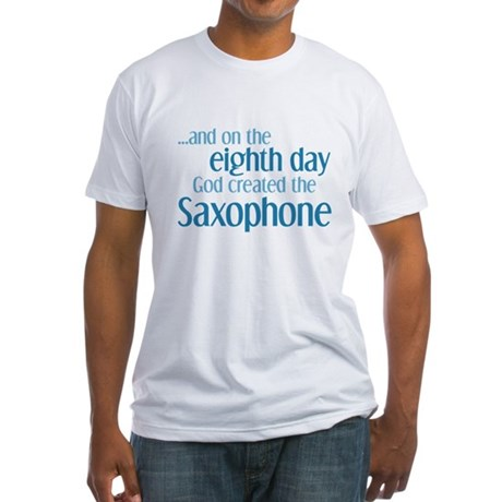 Saxophone Creation Fitted T-Shirt