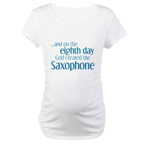 Saxophone Creation Maternity T-Shirt