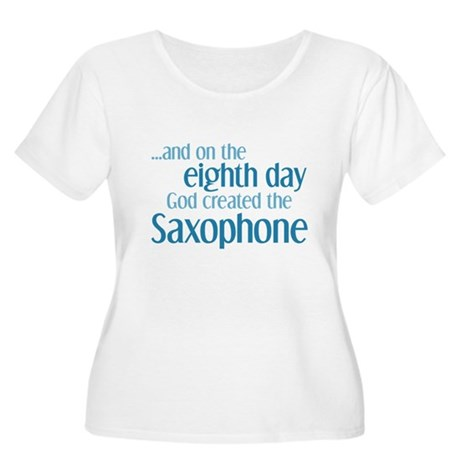 Saxophone Creation Women's Plus Size Scoop Neck T-