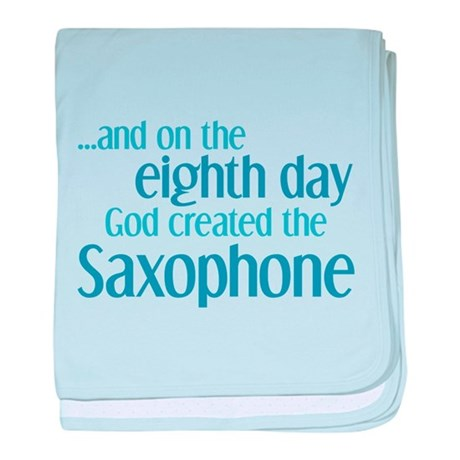 Saxophone Creation baby blanket