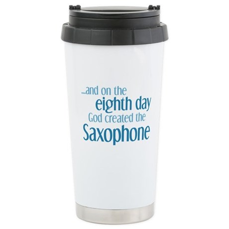 Saxophone Creation Ceramic Travel Mug