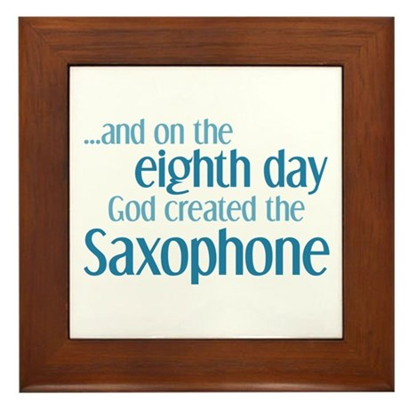 Saxophone Creation Framed Tile