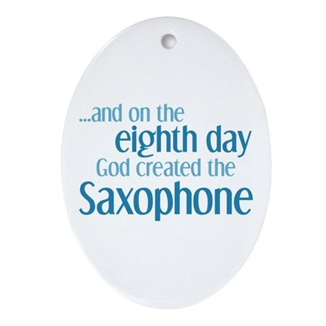 Saxophone Creation Ornament (Oval)