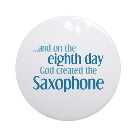 Saxophone Creation Ornament (Round)