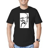 Ghandi Men's Dark Fitted T-Shirt