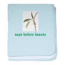 Cute Sage baby blanket
