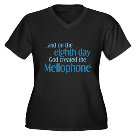 Mellophone Creation Women's Plus Size V-Neck Dark