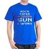 Rock Paper Scissors Gun I Win T-Shirt