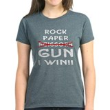 Rock Paper Scissors Gun I Win Tee
