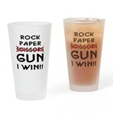 Rock paper gun Pint Glasses