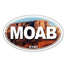 Moab, Utah - Oval Decal