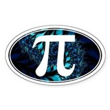 PI Fractals - Oval Decal