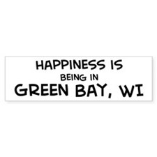Happiness is Green Bay Bumper Bumper Sticker