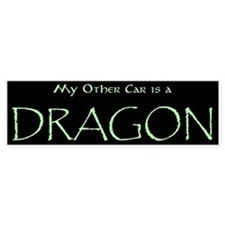 """My Other Car is a Dragon"" Bumper Sticker"