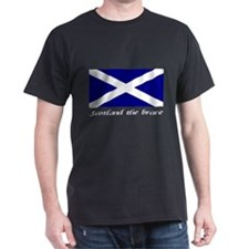 scotland the brave Black T-Shirt