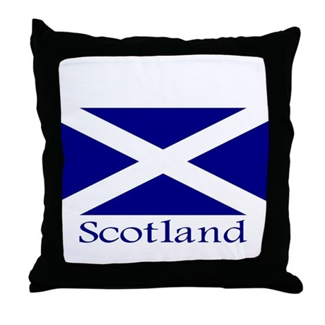 """Scotland"" Throw Pillow"