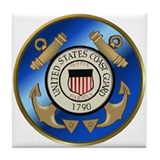Vintage Coast Guard Tile Coaster