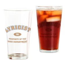 Bard Lyricist Dept Drinking Glass