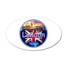 LONDON 22x14 Oval Wall Peel