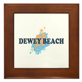 Dewey Beach DE - Seashells Design Framed Tile