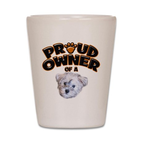 Proud Owner of a Schnoodle Shot Glass