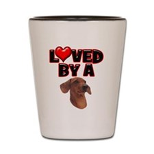 Loved by a Dachshund Shot Glass