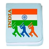 India Cricket baby blanket