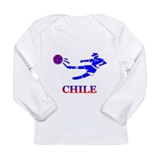 Chile Soccer Player Long Sleeve Infant T-Shirt