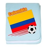 Colombia Soccer Team baby blanket