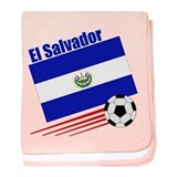 El Salvador Soccer Team baby blanket