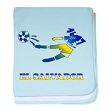 El Salvador Soccer Player baby blanket